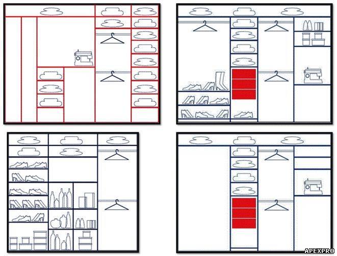 Как сделать планировку шкафа купе в прихожую